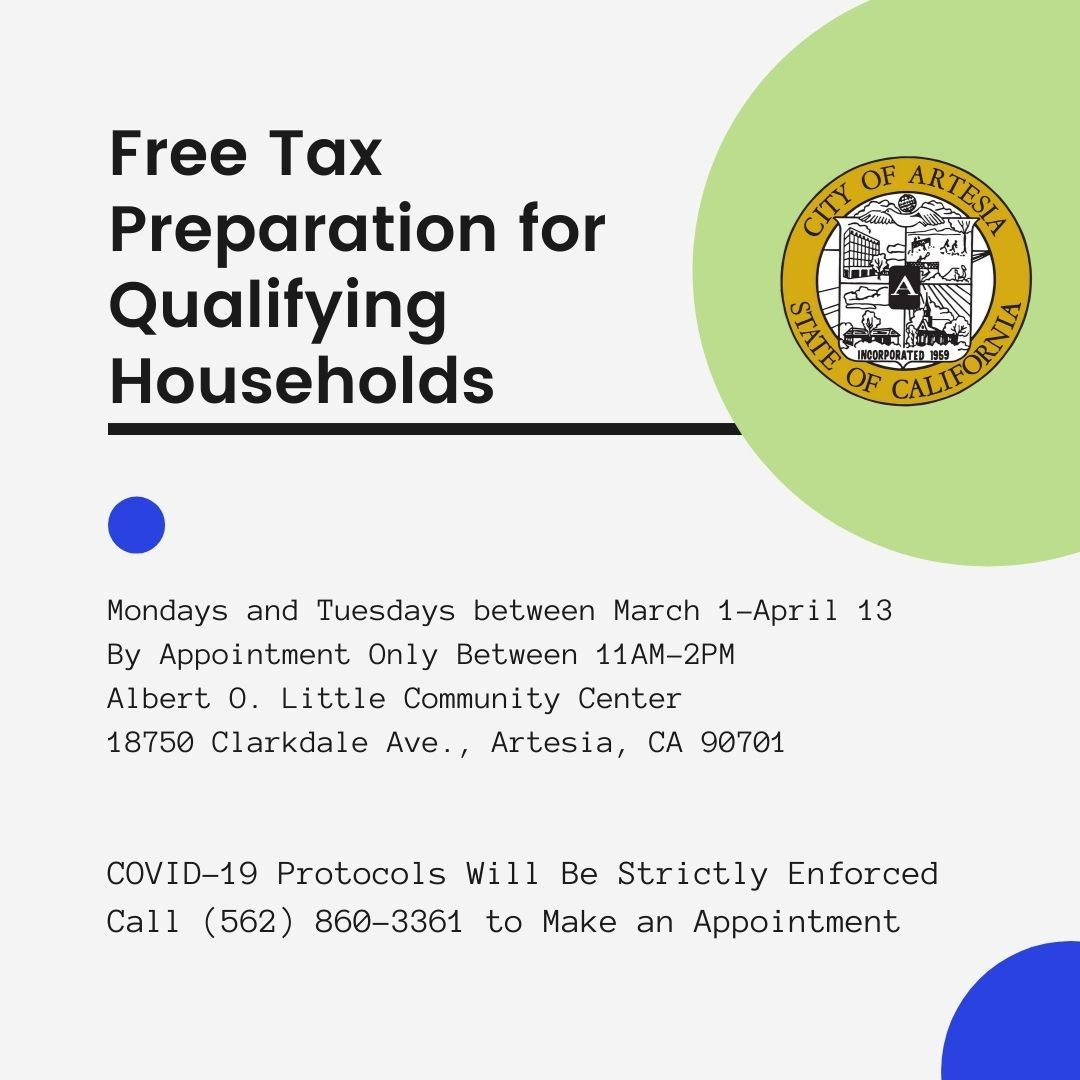 Free Tax Preparation for Qualifying Residents (1)
